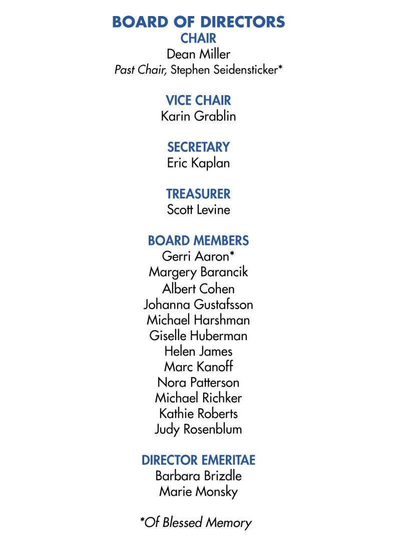 JFCS Board of Directors 2018-2019