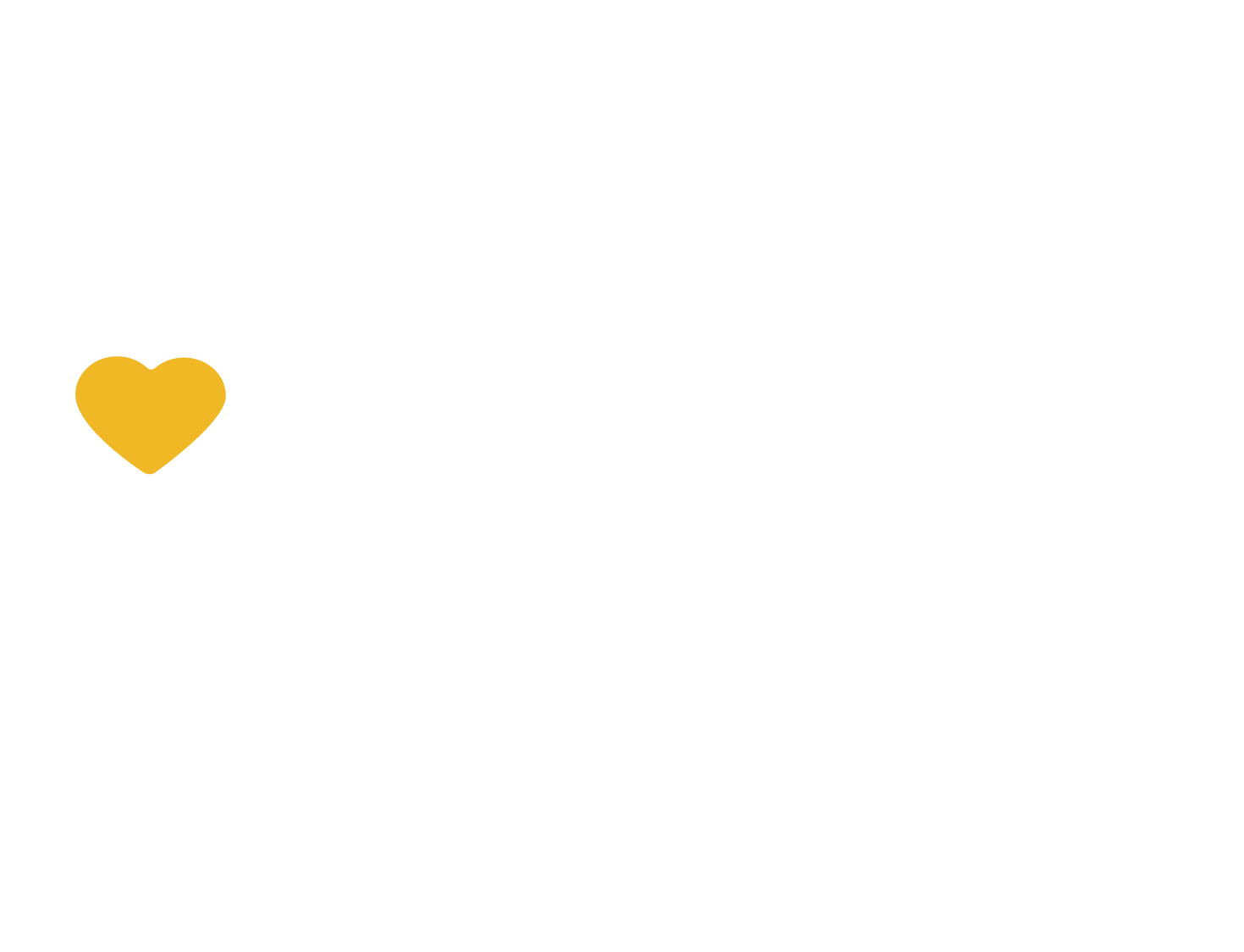 JFCS - Logo - Primary - White - yellow heart